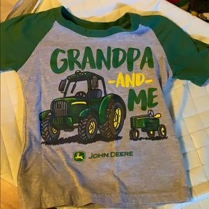 John Deere grandma and me tee 2T